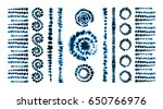set of tie dye art brushes.... | Shutterstock .eps vector #650766976