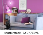 lilac color accent in modern... | Shutterstock . vector #650771896