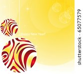 abstract christmas background... | Shutterstock .eps vector #65077579