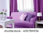 lilac color accent in modern... | Shutterstock . vector #650784556