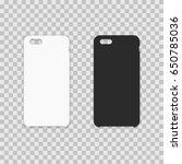 blank phone case. vector... | Shutterstock .eps vector #650785036