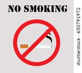 round no smoking sign  quit... | Shutterstock .eps vector #650791972