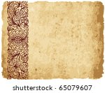 illustration with old paper and ... | Shutterstock .eps vector #65079607