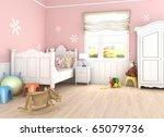 girls s  room in pink walls... | Shutterstock . vector #65079736