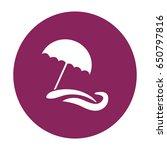 flat icon. beach umbrella. sand ... | Shutterstock .eps vector #650797816