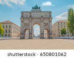 the siegestor  victory gate  in ... | Shutterstock . vector #650801062