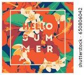 summer hawaiian tropical poster ... | Shutterstock .eps vector #650806042