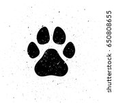 Silhouette Of Dog\'s Paw In...