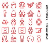 woman icons set. set of 25...   Shutterstock .eps vector #650808805