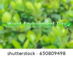 background world environment day | Shutterstock . vector #650809498