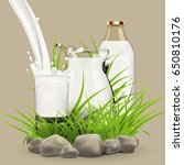 fresh milk background for label ... | Shutterstock . vector #650810176