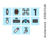 flat color technology icon set  | Shutterstock .eps vector #650815168