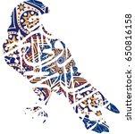 arabic falcon   Shutterstock .eps vector #650816158