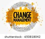 change management word cloud... | Shutterstock .eps vector #650818042