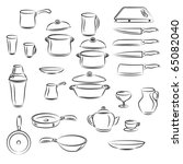 kitchen utensil collection | Shutterstock .eps vector #65082040