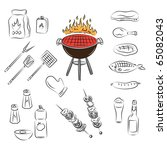 vector barbecue party elements | Shutterstock .eps vector #65082043