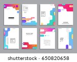 covers with minimal design.... | Shutterstock .eps vector #650820658