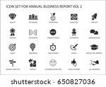 simple flat design business... | Shutterstock .eps vector #650827036