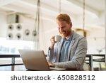 portrait of a business man... | Shutterstock . vector #650828512