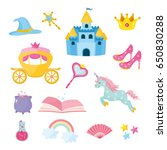 set of fairy tale elements ... | Shutterstock .eps vector #650830288