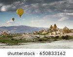 cappadocia landscape with hot... | Shutterstock . vector #650833162