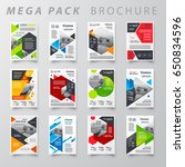 mega pack brochure design... | Shutterstock .eps vector #650834596