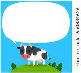 vector cow character standing... | Shutterstock .eps vector #650834626