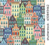 seamless pattern of holland old ...   Shutterstock .eps vector #650845462