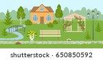 landscape design banner or... | Shutterstock .eps vector #650850592