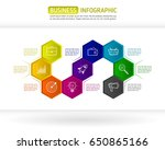 abstract colorful hexagon... | Shutterstock .eps vector #650865166