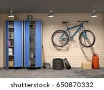 garage with many things and... | Shutterstock . vector #650870332