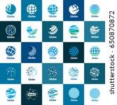 vector logo globe | Shutterstock .eps vector #650870872