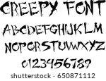 creepy font   vector | Shutterstock .eps vector #650871112