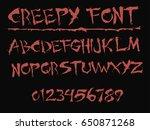 Red Creepy Font   Vector