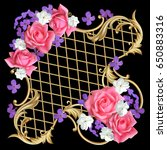 diagonal decorative composition ... | Shutterstock .eps vector #650883316