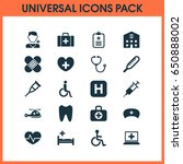 drug icons set. collection of... | Shutterstock .eps vector #650888002