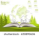 environmentally friendly world. ... | Shutterstock . vector #650890636