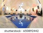 traditional hammam interior in... | Shutterstock . vector #650892442