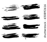 ink vector brush strokes set.... | Shutterstock .eps vector #650892616