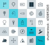 travel icons set. collection of ... | Shutterstock .eps vector #650892835