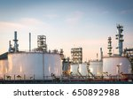 natural gas storage tanks and... | Shutterstock . vector #650892988