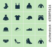 dress icons set. collection of... | Shutterstock .eps vector #650895616