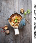 chinese soup and fish maw with... | Shutterstock . vector #650895802