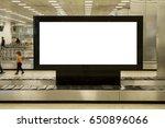 blank billboard or advertising... | Shutterstock . vector #650896066