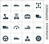 car icons set. collection of... | Shutterstock .eps vector #650900632