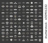 vintage logos design templates... | Shutterstock .eps vector #650901232