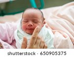 mother carrying her child in... | Shutterstock . vector #650905375