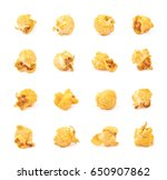 single cheese flavored orange... | Shutterstock . vector #650907862