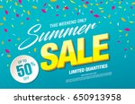 summer sale template banner in... | Shutterstock .eps vector #650913958