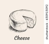 head of cheese hand drawn... | Shutterstock .eps vector #650915092